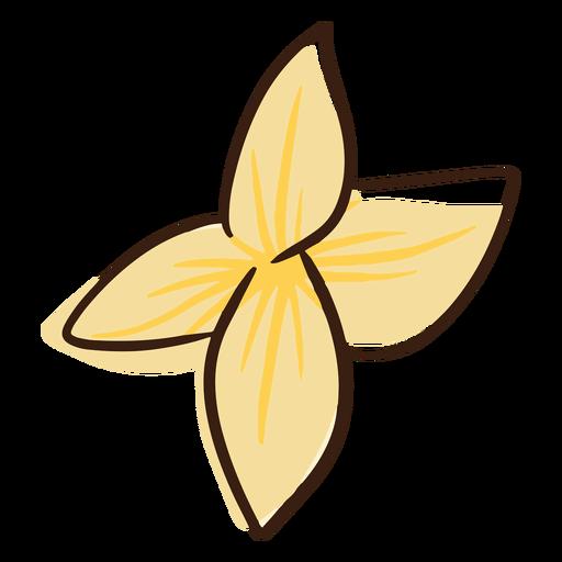 Doodle flor hawaiana Transparent PNG
