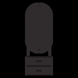 Dressing table black