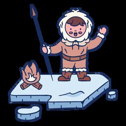 Personaje de niño esquimal