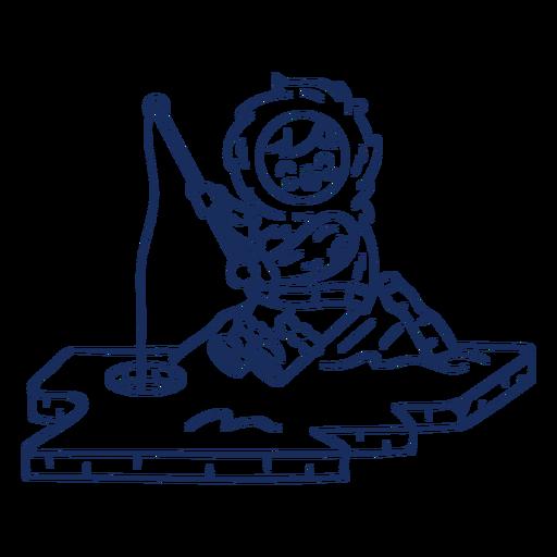 Eskimo kid fishing stroke Transparent PNG