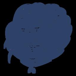 Eskimomanngesicht blau