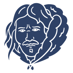 Esquimal hombre cara azul