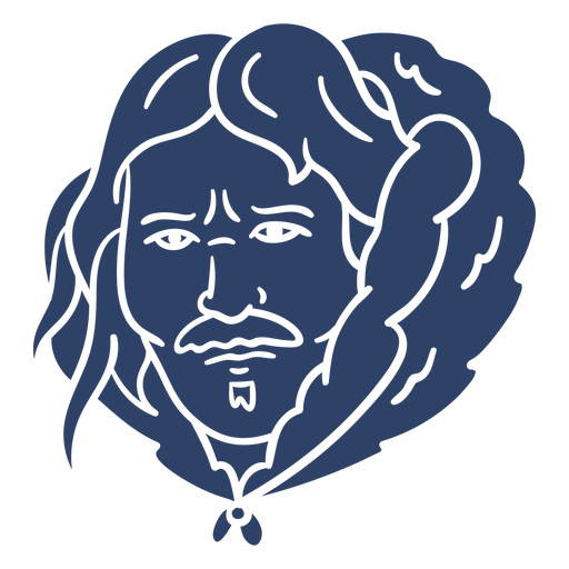Eskimomanngesicht blau Transparent PNG