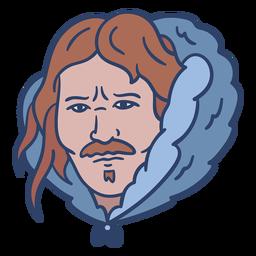 Ilustración de cara de hombre esquimal
