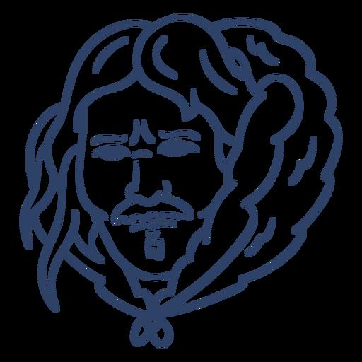 Eskimo Mann Gesicht Schlaganfall Transparent PNG