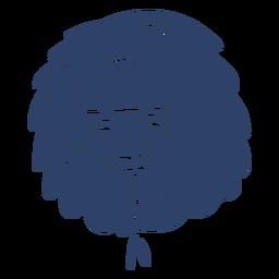 Esquimal anciana cara azul