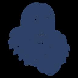 Eskimopersonengesicht blau