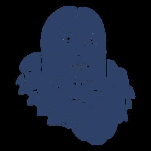 Eskimo person face blue