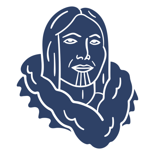 Eskimopersonengesicht blau Transparent PNG
