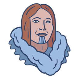 Eskimo person face illustration