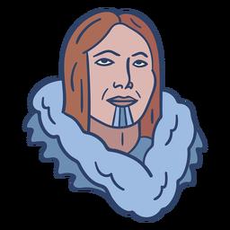 Ilustración de cara de persona esquimal