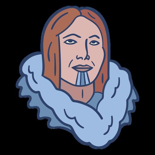 Ilustración de cara de persona esquimal Transparent PNG
