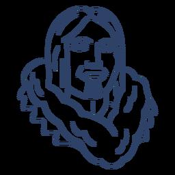 Curso de rosto de pessoa esquimó