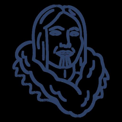 Trazo de cara de persona esquimal Transparent PNG