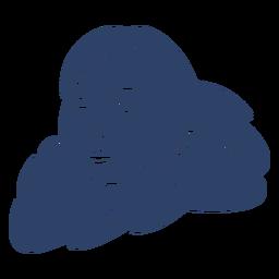 Eskimofrauengesicht blau