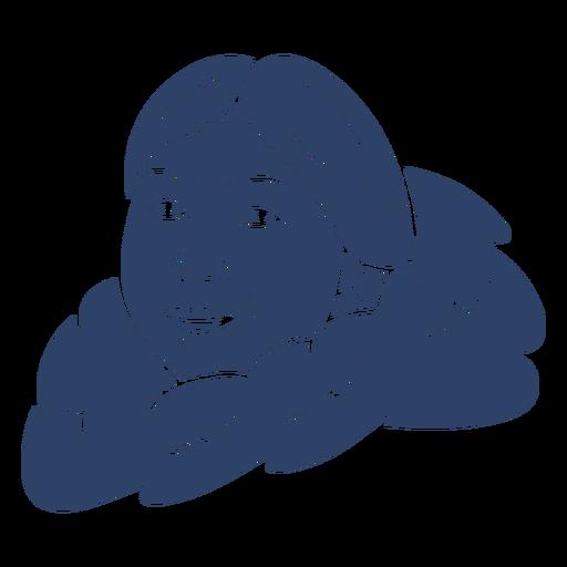 Esquimal mujer cara azul Transparent PNG