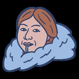 Ilustración de cara de mujer esquimal