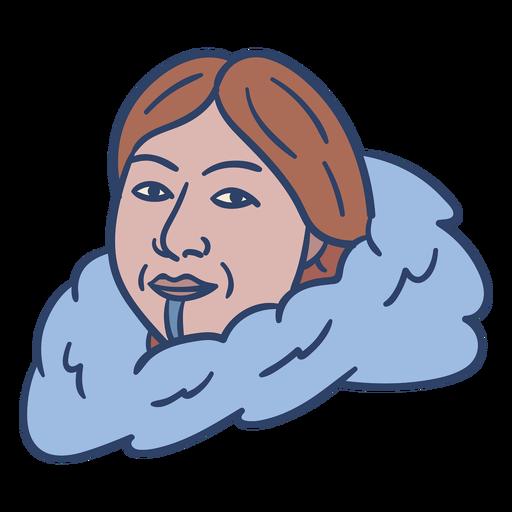 Ilustración de cara de mujer esquimal Transparent PNG