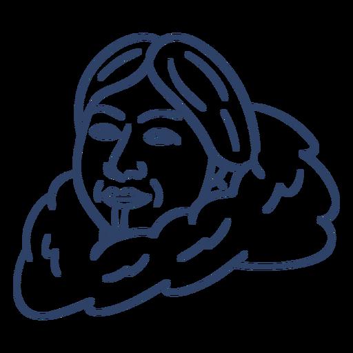Eskimo Frau Gesicht Schlaganfall Transparent PNG