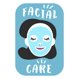 Facial care bathroom label flat