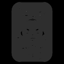 Etiqueta de banheiro de cuidado facial preto
