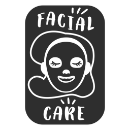 Etiqueta de baño cuidado facial negro