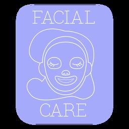 Línea de etiqueta de baño de cuidado facial