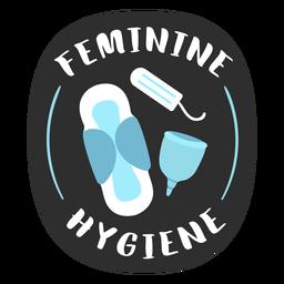 Feminine hygiene bathroom label flat