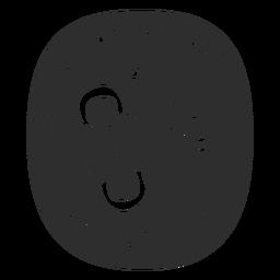 Etiqueta do banheiro de higiene feminina preto