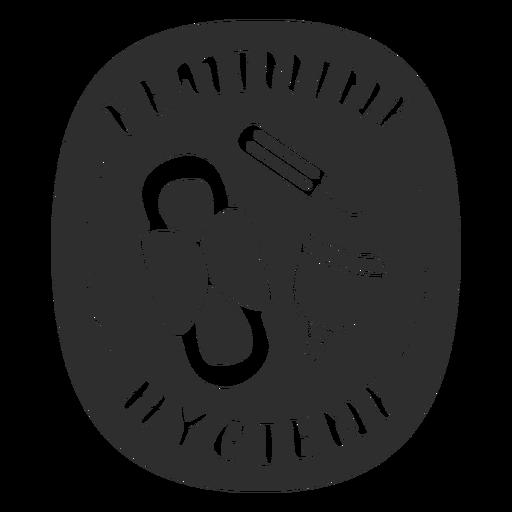 Etiqueta baño higiene femenina negra