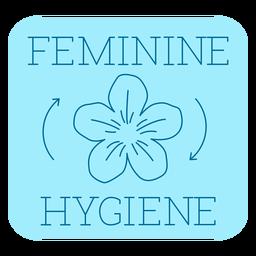 Feminine hygiene bathroom label line