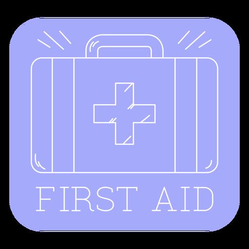 First aid bathroom label line