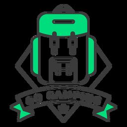 Ir a acampar insignia de trazo