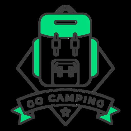 Go camping badge stroke Transparent PNG