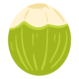Green coconut design