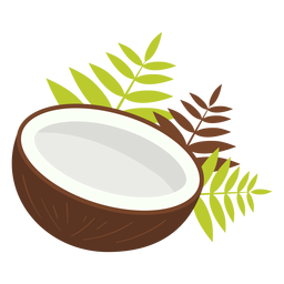 Half coconut design