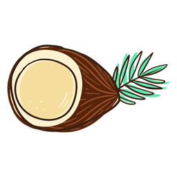 Half coconut doodle