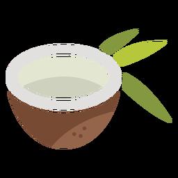 Half coconut icon