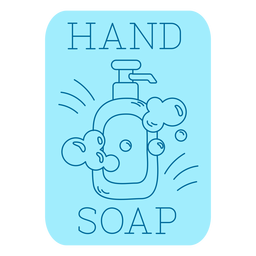 Hand soap bathroom label line