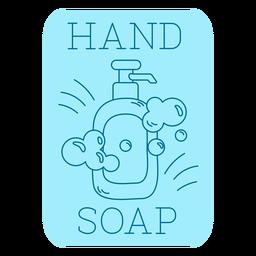 Línea de etiquetas de baño de jabón de manos