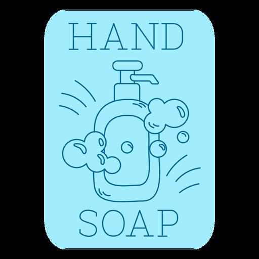 Hand soap bathroom label line