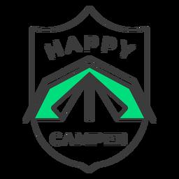 Happy camper badge stroke