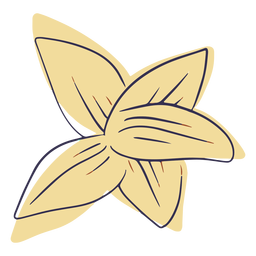 Doodle de flor havaiana