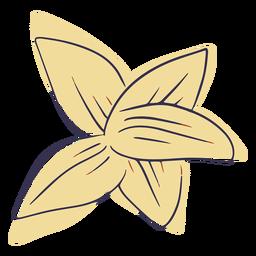 Doodle de flores hawaianas