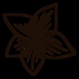 Dibujado a mano flor hawaiana