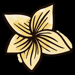 Acuarela de flores hawaianas