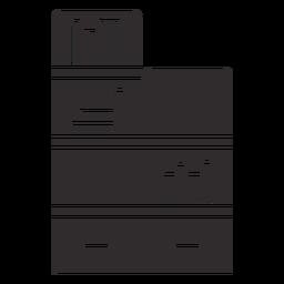 Estante de livros em casa preta