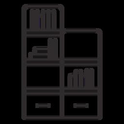 Trazo de estantería para el hogar