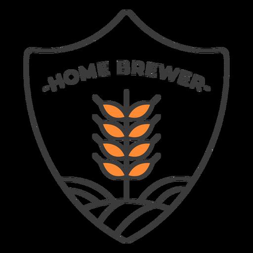 Home brewer badge stroke