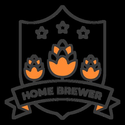 Home brewer barley badge stroke
